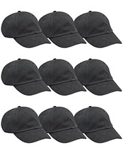 Adams AD969 Unisex Optimum Pigment Dyed-Cap 9-Pack at GotApparel