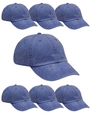 Adams AD969 Unisex Optimum Pigment Dyed-Cap 7-Pack at GotApparel