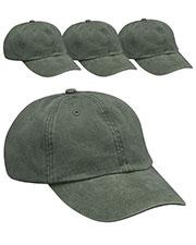 Adams AD969 Unisex Optimum Pigment Dyed-Cap 4-Pack at GotApparel