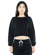 Custom Embroidered American Apparel AF3451W Women Flex Fleece Raglan Cropped Sweatshirt at GotApparel