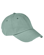 Authentic Pigment AP1920 Distressed 6-Panel Cap at GotApparel