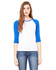 Bella + Canvas B2000 Women Stretch Rib 3/4-Sleeve Contrast Raglan T-Shirt at GotApparel