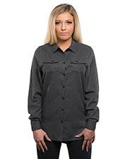 Burnside B5200 Women Solid Flannel Shirt at GotApparel