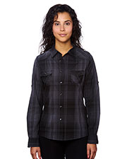 Burnside B5206 Women Western Plaid Long-Sleeve Shirt at GotApparel