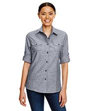 Burnside B5255 Women Chambray Woven Shirt at GotApparel