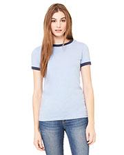 Bella + Canvas B6050 Women Jersey Short-Sleeve Ringer T-Shirt at GotApparel