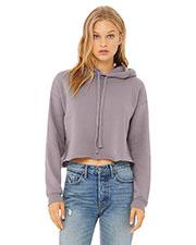 Bella + Canvas B7502 Women 7 oz Cropped Fleece Hoodie at GotApparel