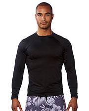 Burnside B8151 Men Long-Sleeve Rash Guard Shirt at GotApparel