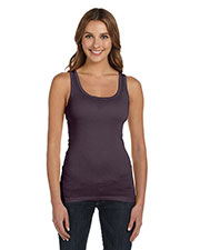 Bella + Canvas B8780 Women Sheer Mini Rib Tank at GotApparel