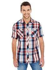 Burnside B9202 Men Short-Sleeve Plaid Pattern Woven at GotApparel