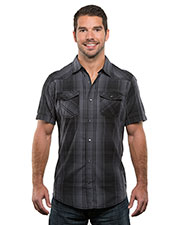 Burnside B9206 Men Plaid Pattern Western Woven at GotApparel