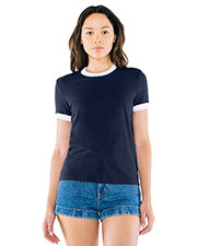Custom Embroidered American Apparel BB310W Women Poly-Cotton Ringer T-Shirt at GotApparel