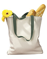 BAGedge BE010 Women  12 Oz. Canvas Tote With Contrasting Handles at GotApparel