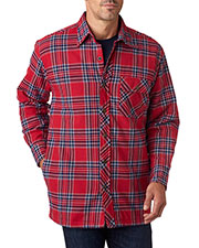 Backpacker BP7002 Men Flannel Shirt Jacket with Quilt Lining at GotApparel