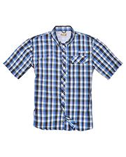 Backpacker BP7015 Men Sport Utility Short-Sleeve Plaid Shirt at GotApparel