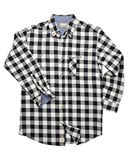Backpacker BP7040T Men Tall Yarn-Dyed Long-Sleeve Brushed Flannel at GotApparel