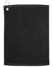 UltraClub C1518GH Men Large Velour Golf Towel with Grommet at GotApparel