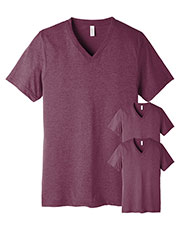Bella + Canvas 3415C Unisex Tri-Blend Short-Sleeve V-Neck Tee 3-Pack at GotApparel