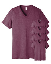 Bella + Canvas 3415C Unisex Tri-Blend Short-Sleeve V-Neck Tee 5-Pack at GotApparel