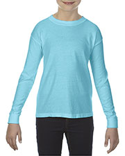 Comfort Colors C3483 Youth 5.4 oz Garment-Dyed Long-Sleeve T-Shirt at GotApparel