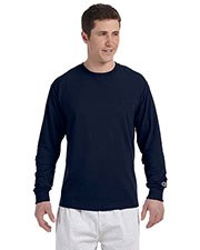 Custom Embroidered Champion CC8C Men 5.2 Oz. Long-Sleeve T-Shirt at GotApparel