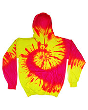 Tie-Dye CD8700Y Boys Fluorescent Tie-Dyed Pullover Hoodie at GotApparel