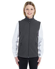Ash City CE701W Women Cruise Two-Layer Fleece Bonded Soft Shell Vest at GotApparel