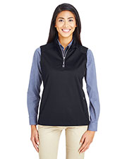 Ash City - Core 365 CE709W Women Techno Lite Shell Quarter-Zip Vest at GotApparel