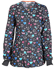Code Happy CH300X14A Women Snap Front Warm-Up Jacket  at GotApparel