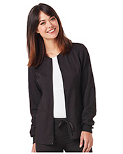 Code Happy CH312A Women Zip Front Warm-Up Jacket  at GotApparel