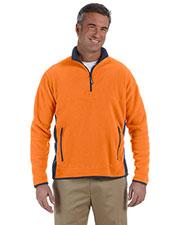 Chestnut Hill CH970 Men Polartec Colorblock Quarter-Zip Pullover at GotApparel