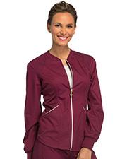 Cherokee CK300 Women Zip Front Warm-Up Jacket  at GotApparel
