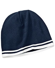 Port & Company CP93 Men Fine Knit Skull Cap with Stripes at GotApparel