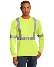 Cornerstone CS401LS Men Ansi 107 Class 2 Long-Sleeve Safety T-Shirt at GotApparel