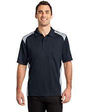 Cornerstone CS416 Men Select Snag-Proof Two Way Colorblock Pocket Polo at GotApparel