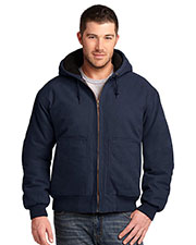 Cornerstone  CSJ41 Men Washed Duck Cloth Insulated Hooded Work Jacket at GotApparel
