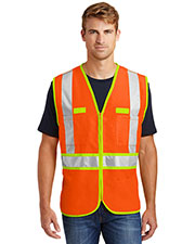 Cornerstone CSV407 Men Ansi 107 Class 2 Dualcolor Safety Vest at GotApparel
