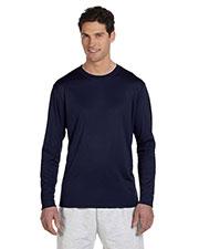Custom Embroidered Champion CW26 Men Double Dry 4.1 Oz. Long-Sleeve Interlock T-Shirt at GotApparel