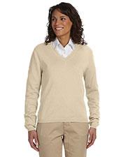 Devon & Jones Classic D475W Women V-Neck Sweater at GotApparel