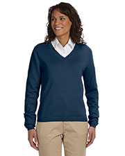 Devon & Jones Classic D475W Women V-Neck Sweater at GotApparel