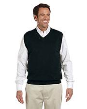 Devon & Jones Blue D477 Men Adult Unisex V-Neck Vest at GotApparel