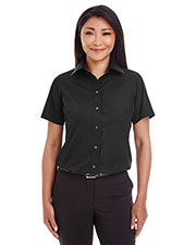 Devon & Jones Classic D620SW Women Crown Collection  Solid Broadcloth Short-Sleeve Shirt at GotApparel