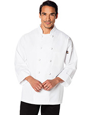 Dickies Chef DC43 Unisex Classic Knot Button Chef Coat at GotApparel