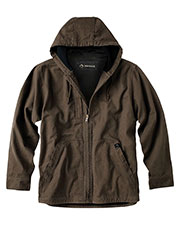 Dri Duck DD5090T Men 100% Cotton 12 oz. Canvas/Polyester Thermal Lining Hooded Tall Laredo Jacket at GotApparel