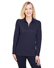 Devon & Jones DG20LW CrownLux Performance Ladies 5.1 oz Plaited Long Sleeve Polo at GotApparel