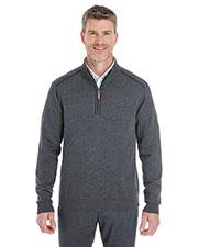 Devon & Jones Classic DG478 Men Manchester Fully-Fashioned Quarter-Zip Sweater at GotApparel