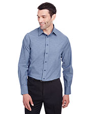 Devon & Jones DG562 Men Crown Collection Stretch Pinpoint Chambray Shirt at GotApparel