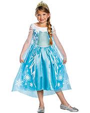Halloween Costumes DG56998K Girls Frozen Elsa Child Deluxe 7-8 at GotApparel