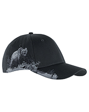Dri Duck DI3319 Brushed Cotton Twill Grizzly Bear Cap at GotApparel