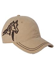 Dri Duck DI3323 3D Horse Soft Structured Mid-Profile Hat at GotApparel